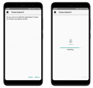 install virtual android pie 9 apk